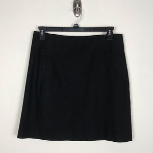 LOFT Black Mini Skirt Pockets Cotton Stretch #166